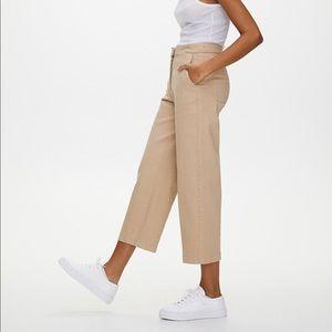 Babaton aritzia cropped wide leg pants